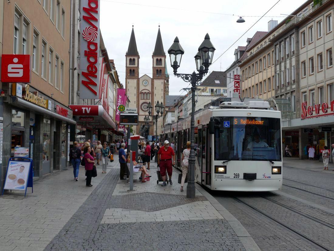 strassenbahn plan würzburg