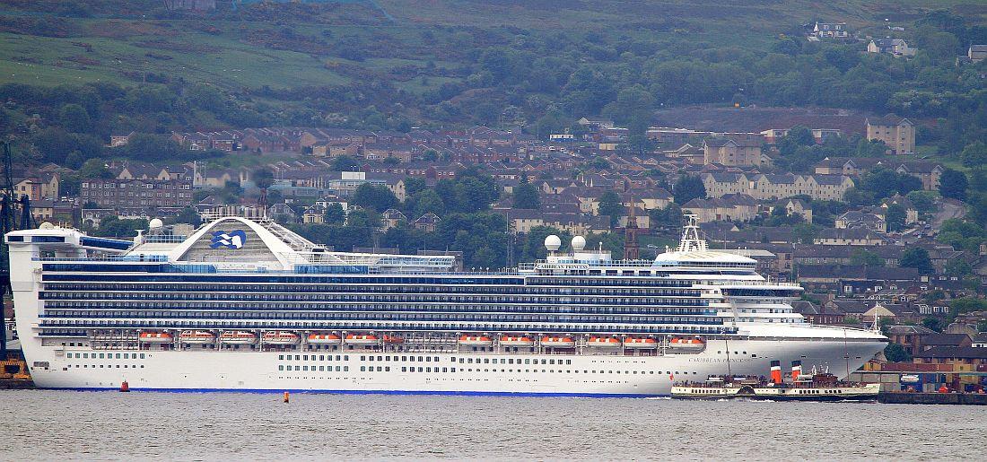 Paddle Steamer News - Cruise ships at greenock
